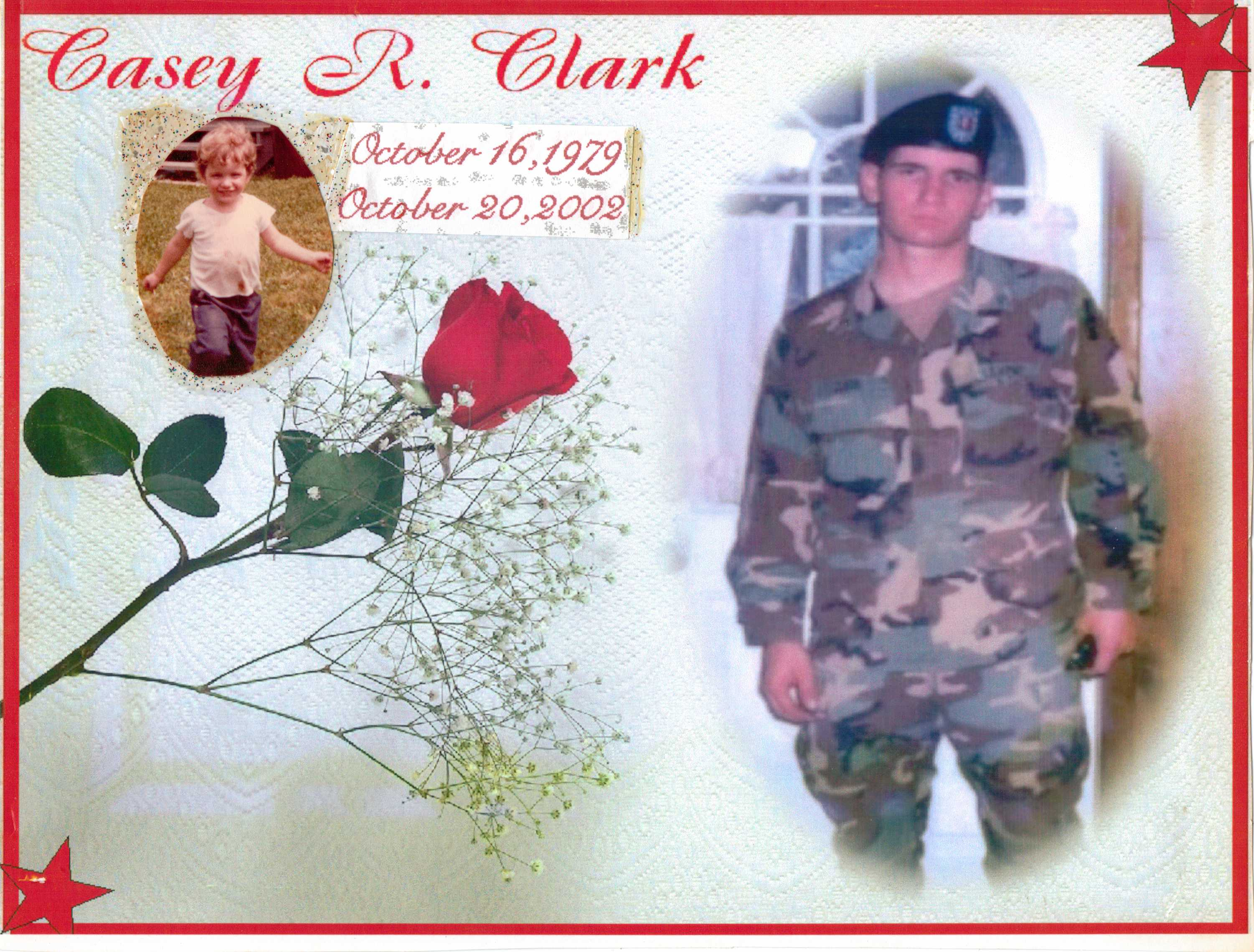 Casey R Clark Army national Guard