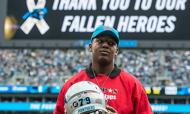 finest selection 2aeae 0dba1 Carolina Panthers Salute to Service