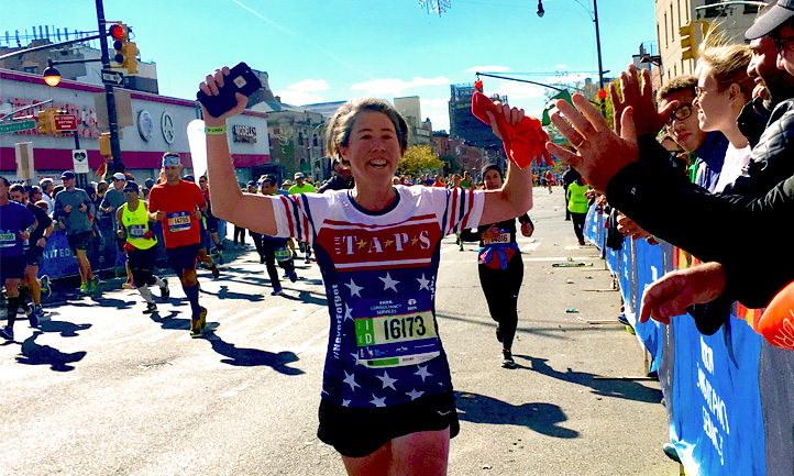 New York City Marathon Team TAPS Runner