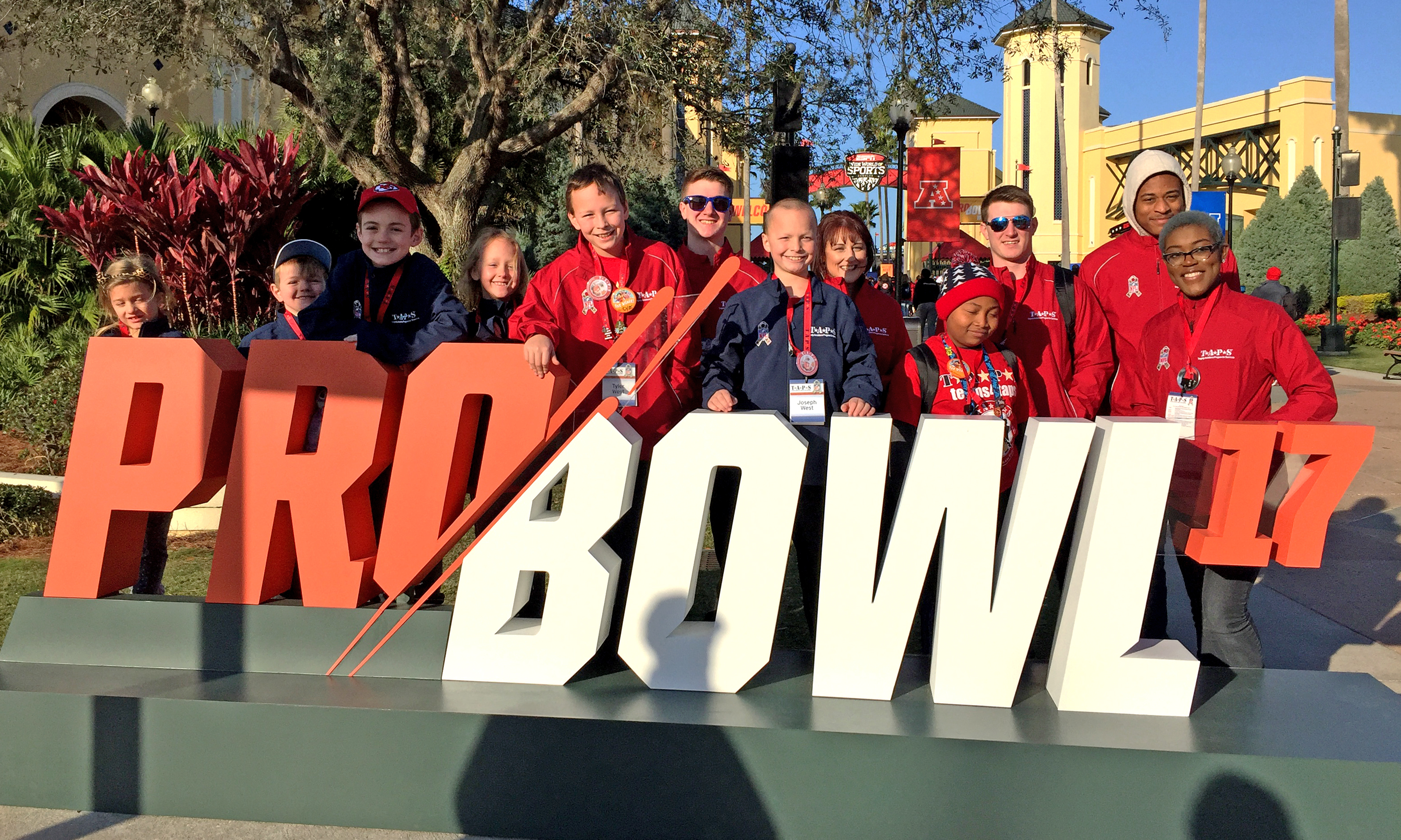 Survivors at the NFL Pro Bowl