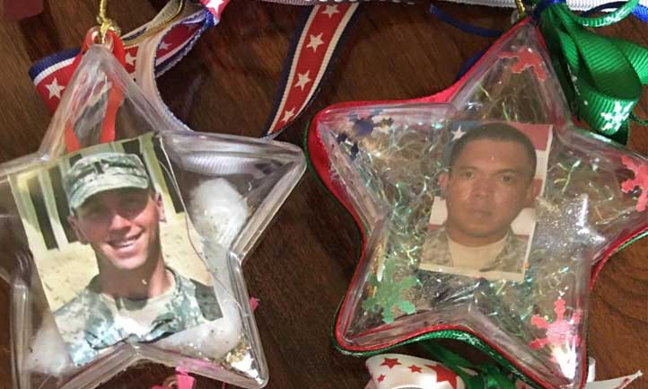 Christmas ornaments of loved ones