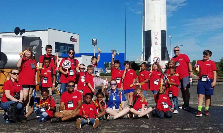 Good Grief Camp Kids at Space Camp