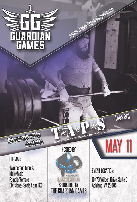 Guardian Games hosted by Crossfit Lacertus on May 11 from 8 - 5