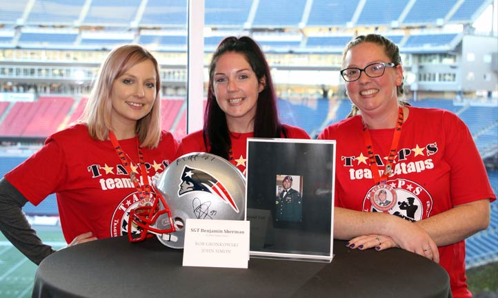 TAPS family with Loved One Photo at Patriots Stadium