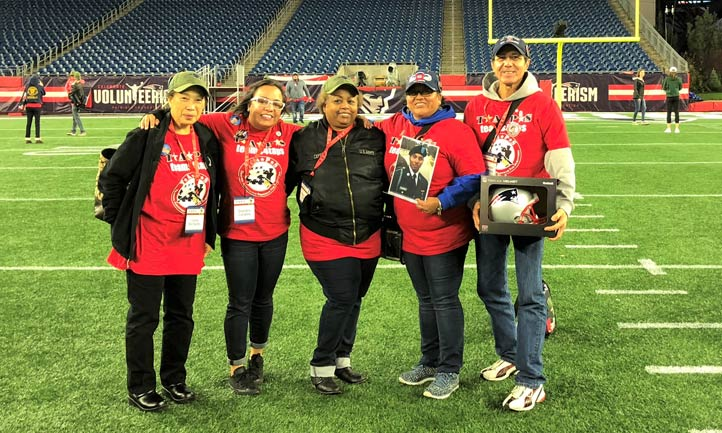 TAPS families at Patriots Stadium