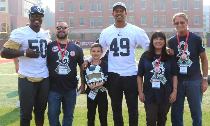 TAPS family with Los Angeles Rams