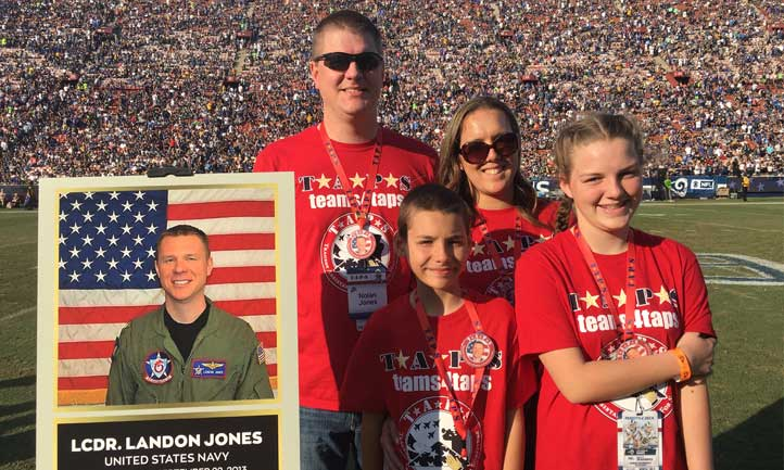TAPS family at Los Angeles Rams game