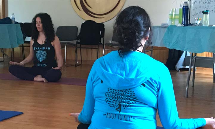 Surviving Women yoga session
