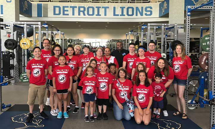 TAPS Survivors with Detroit Lions