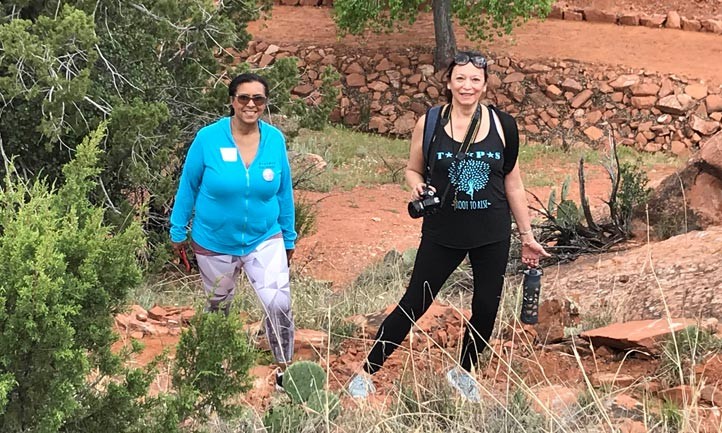 Surviving Women hiking