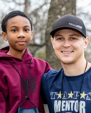 Military mentors and TAPS children
