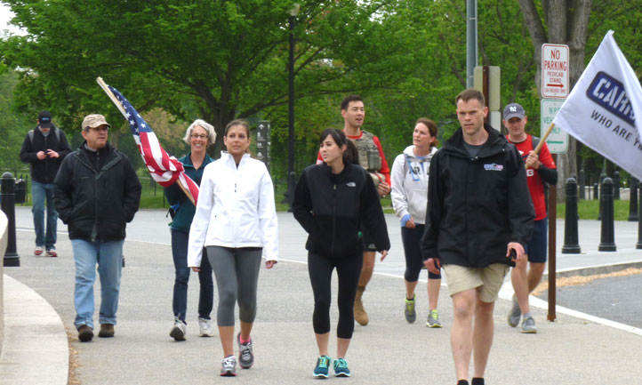 TAPS Survivors walking for Carry the Load