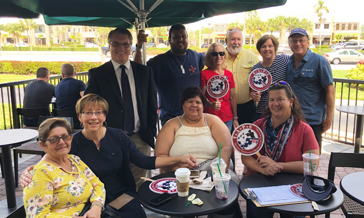 TAPS Survivors together at Starbucks