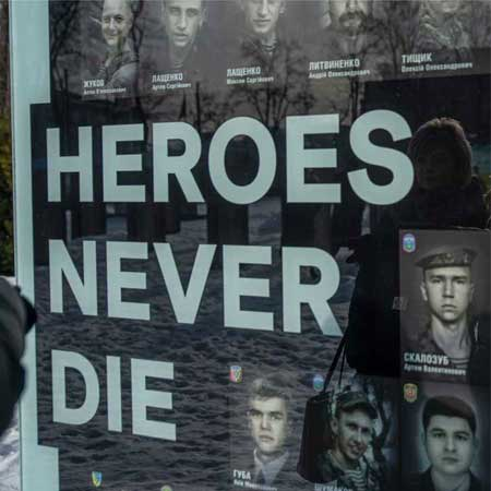 Memorial Wall with words - Heroes Never Die