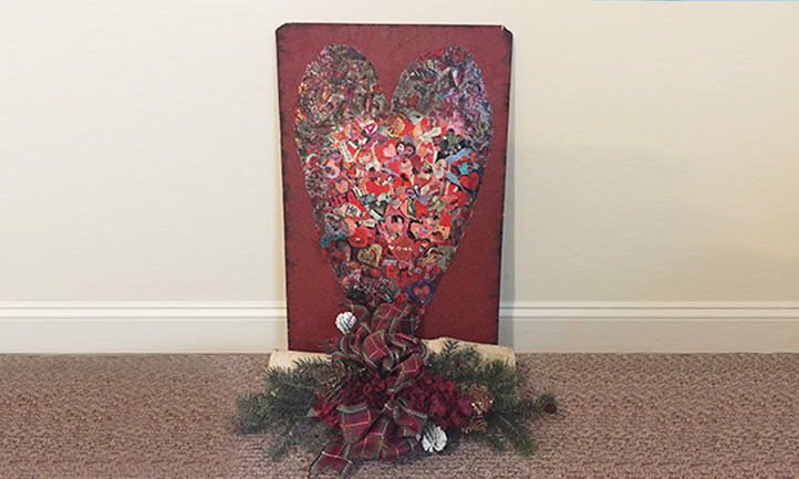 Heart Collage Art Project