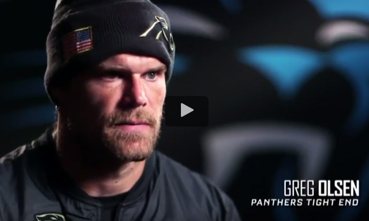 sneakers for cheap afc51 c62a6 Video: ESPN, Carolina Panthers Salute to Service