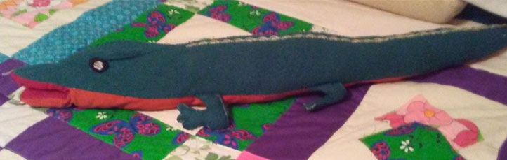 Michael's stuffed alligator