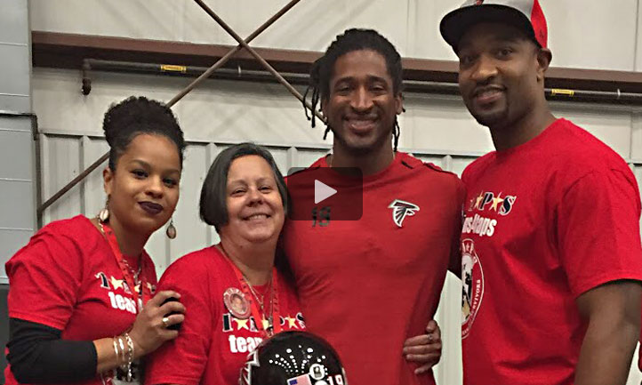 Atlanta Falcons Andre Roberts gives shout out to TAPS (select image above to play).
