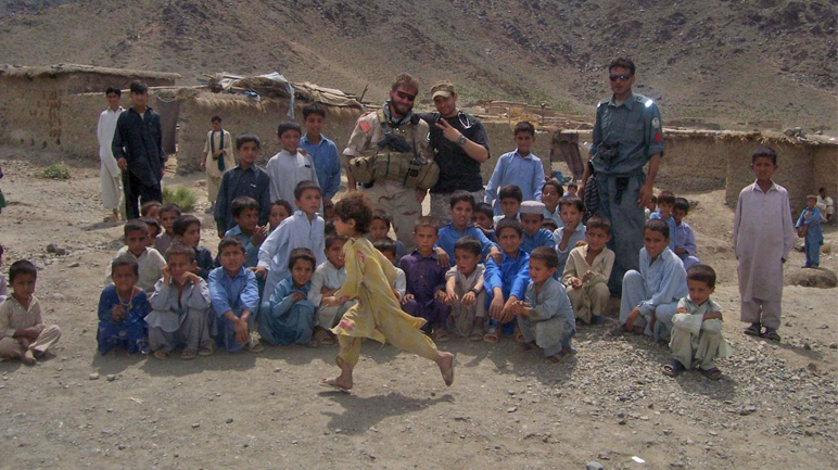 Andrew in Afghanistan
