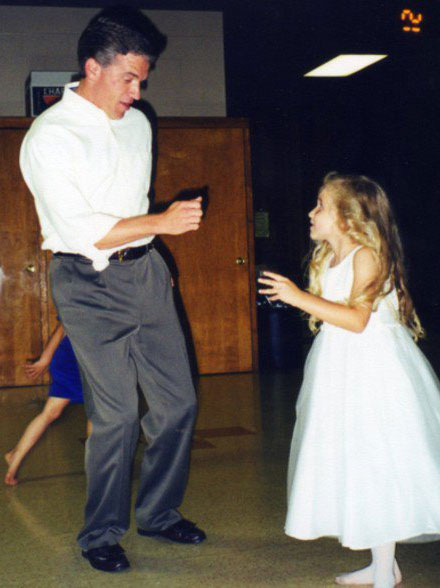 Kaitlyn and father Alan dancing