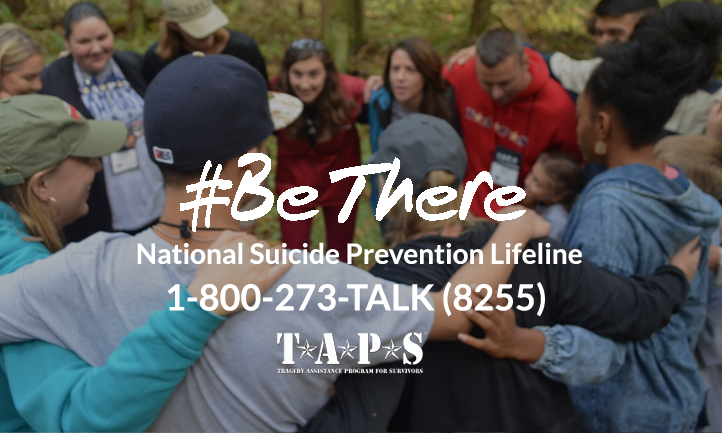 #bethere National Prevention Lifeline 1-800-273-8255