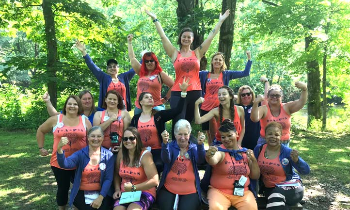 TAPS surviving women create a plan for healing and growth at the Pinebrook Retreat Center during last month's Pocono Mountains Women's Empowerment Retreat.