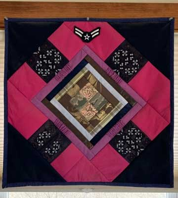 quilt of Courtney's dress blues