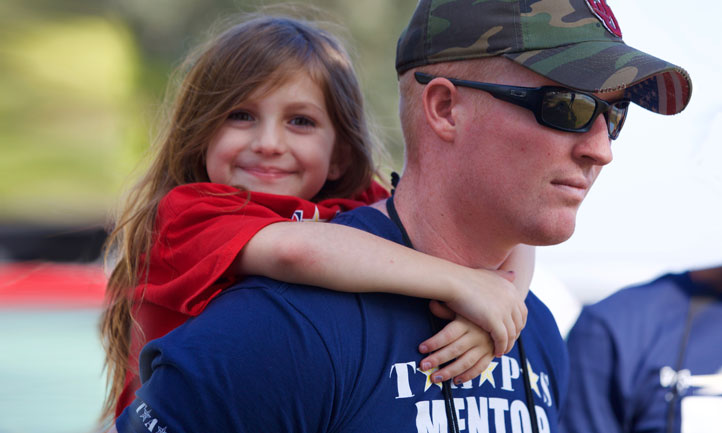 volunteer Military Mentor served as a companion to a child at the San Diego Regional Seminar and Good Grief Camp