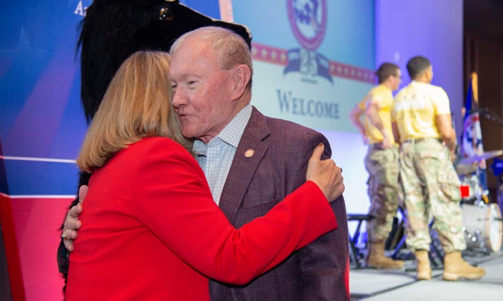 Bonnie Carroll and General Martin Dempsey