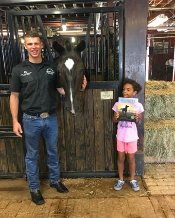 "Arianna Bryant visited the horses of the U.S. Army Caisson Platoon at Fort Myer"" Arianna says."