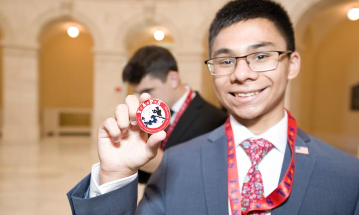 TAPS Young Survivor at the United States Captiol