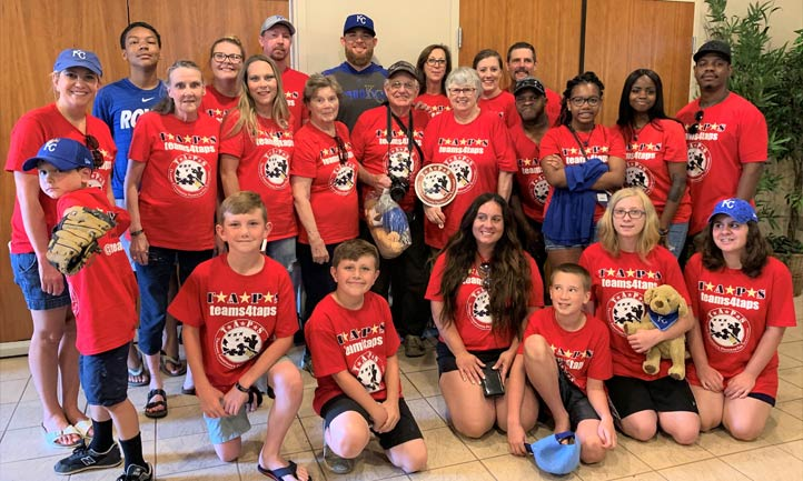 Kansas City Royals Ian Kennedy hosts TAPS families