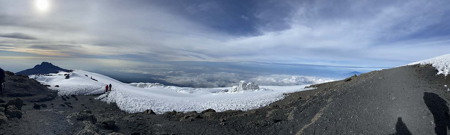 View from atop Kilimanjaro