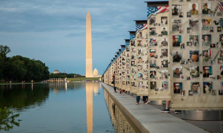 National Mall Hero Wall Memorial Day 2019