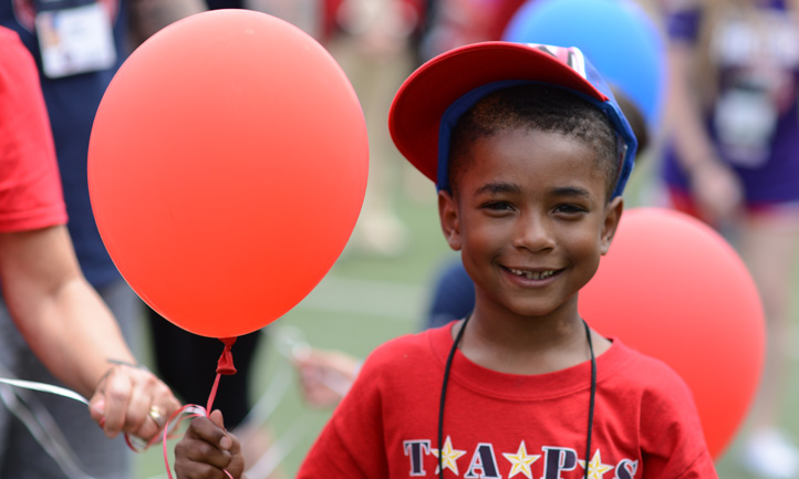 National Military Good Grief Camp Boy with Balloon