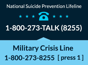 Suicide Lifeline 1-800-273-TALK (8255) Military Press 1
