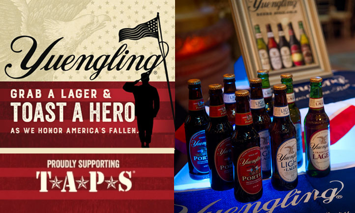 Yuengling Lagers for Heroes Salute Veterans and Their