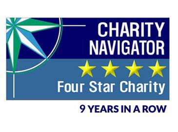 Charity Navigator 4 stars 5 years in a row