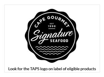 Cape Gourmet Logo, Look for the TAPS logo on label of eligible products